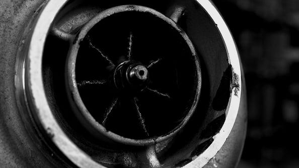 Carbon-Buildup-In-A-Diesel-VGT-Turbocharger
