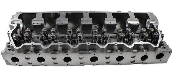 CATERPILLAR C15 C15 ACERT 3406E STAGE 3 LOADED CYLINDER HEAD W INCONEL INTAKE EXHAUST VALVES NEW