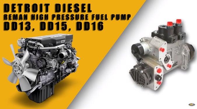 Detroit Diesel DD15 DD16 and DD13 Fuel Pump